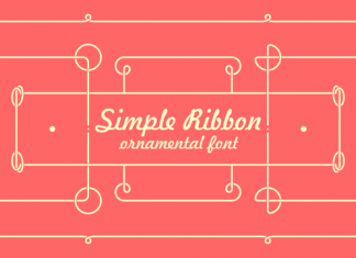 Simple Ribbon Font