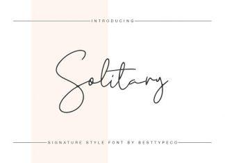 Solitary Script Font