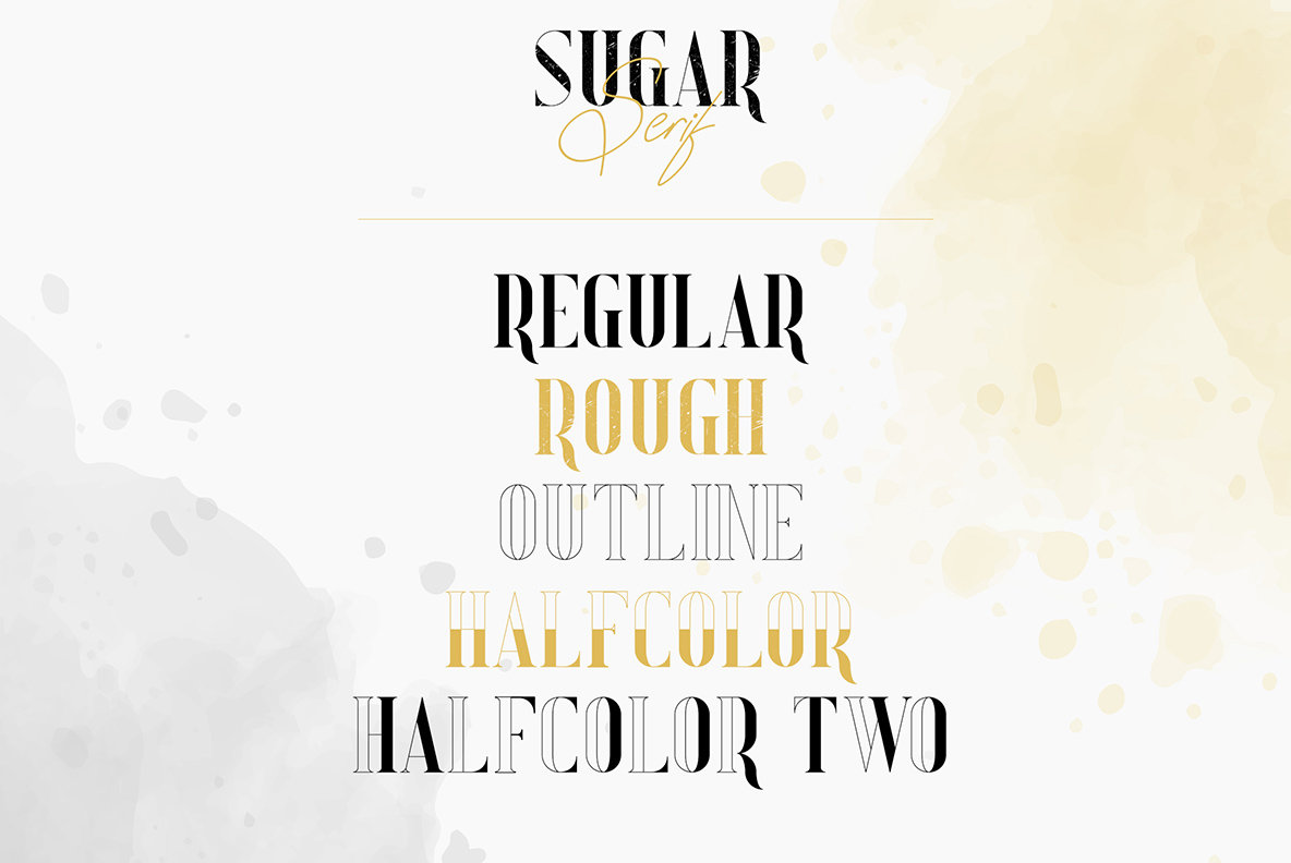 Sugar Spice Font Duo and Extras Family