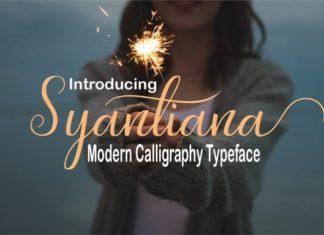 Syantiana Font Script