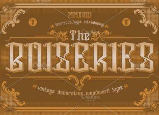 the Boiseries Font