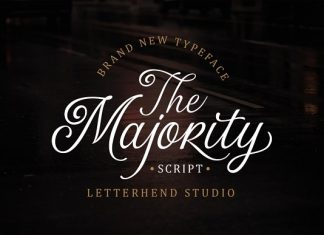 The Majority Script Font