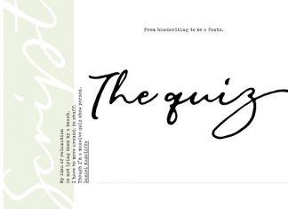 The Quiz Script Font