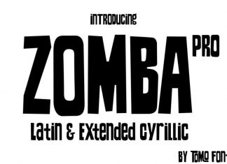 TOMO Zomba Pro Sans Serif Font