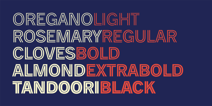 Trade Gothic Inline Font Family