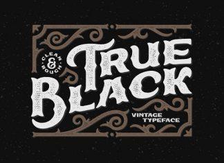 True Black typeface Font