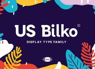 US Bilko - Semi-Slab Display Script Font
