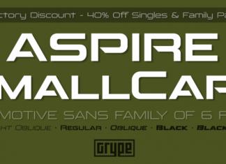 Aspire SmallCaps Font Family