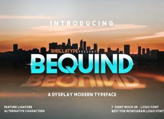 BEQUIND - A MODERN DYSPLAY FONT
