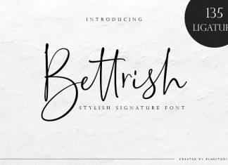 Bettrish // Stylish Signature Font