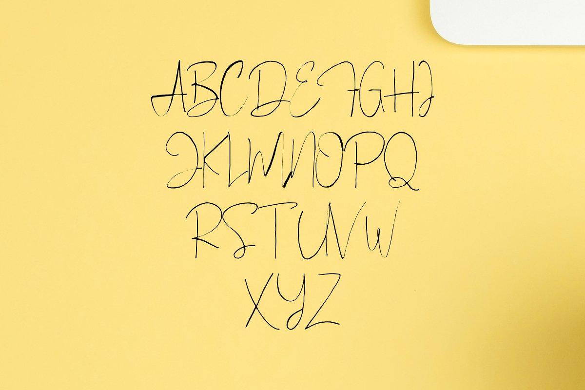 Blinor A Hand Drawn Signature Font