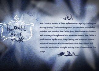 Blue Goblet Serif Font