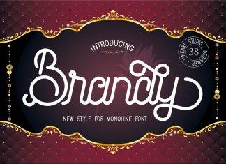Brandy Monoline Duo Font