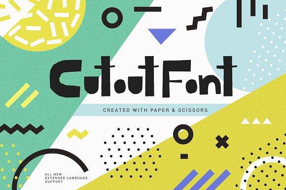 Cutout - bold uppercase font