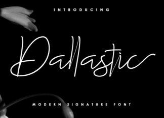 Dallastic Script Font