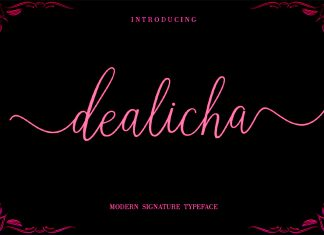 Dealicha Script Font