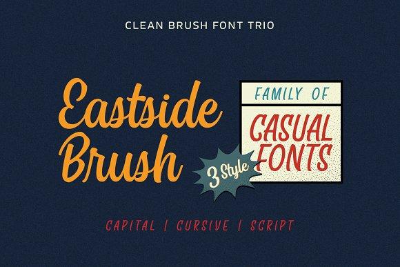 Eastside Brush - Casual Font Trio