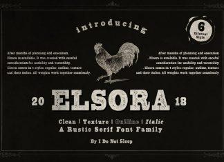 Elsora Script Font