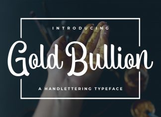 Gold Bullion Script Font