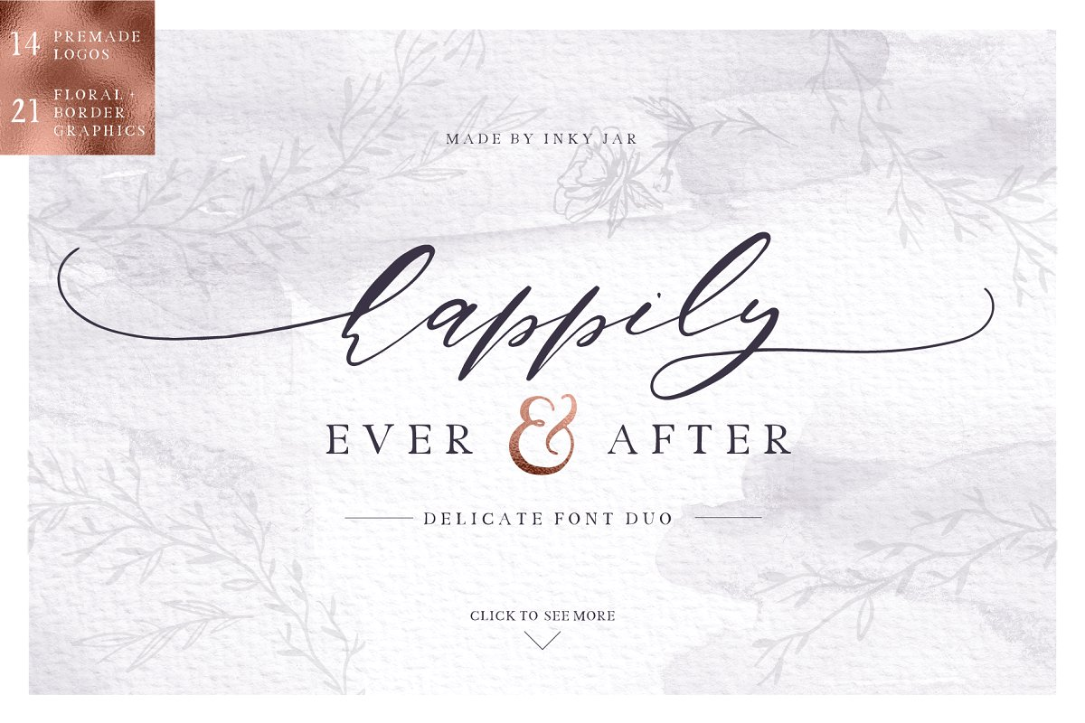 Happily ever after Font Duo + Extras
