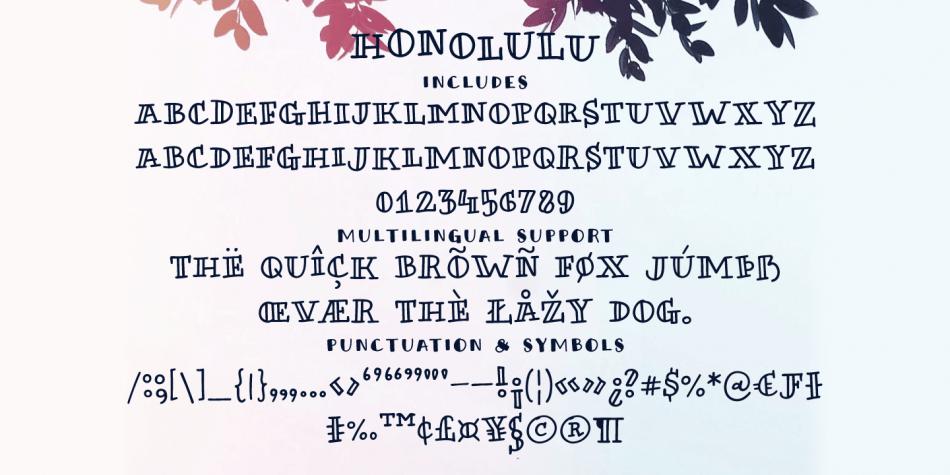 Honolulu Font