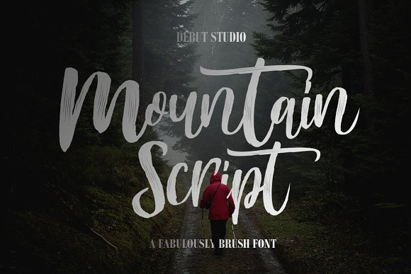 Mountain Script - Brush Font