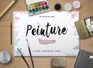 Peinture Typeface Font