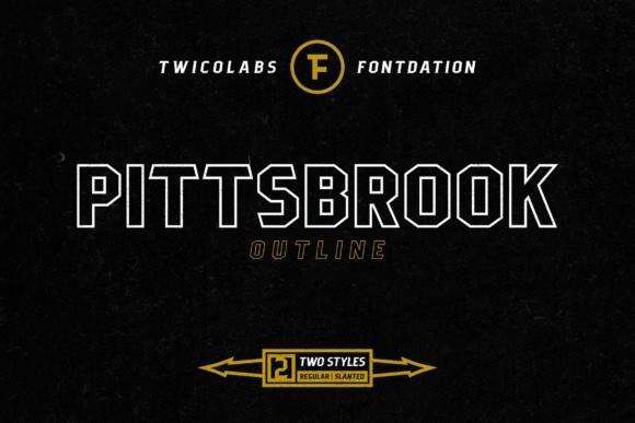 Pittsbrook Outline Font
