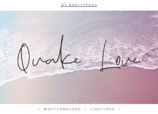 Quake Love Script Font