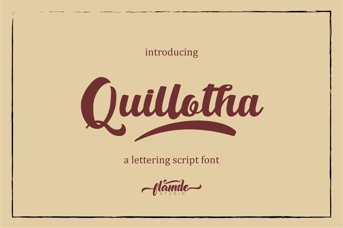 Quillotha - Script Font Script Font