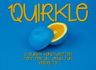 Quirkle - A Hand-Written Quirky FontRegular Font
