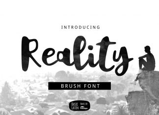 Reality Brush Font