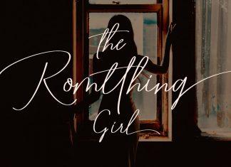 Romtthing Girl - Signature Stylish Font