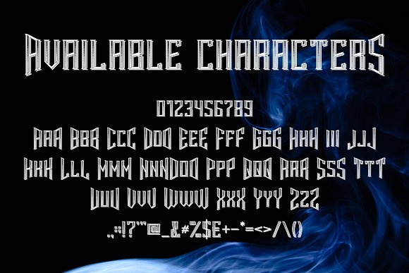Smokers typeface Font