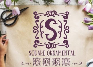 Square Ornamental Monogram