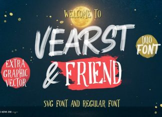 Vearst & friend SVG FONT & REGULAR