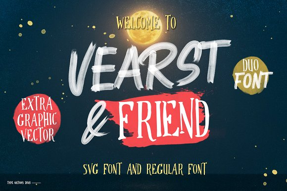 Vearst & friend SVG FONT & REGULAR