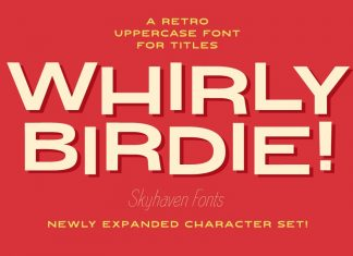 Whirly Birdie Font
