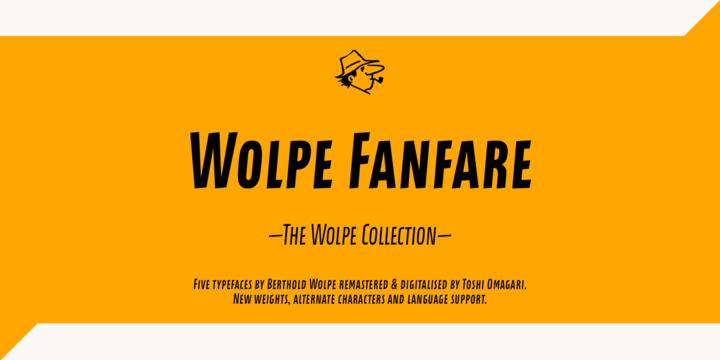 Wolpe Fanfare Font Family