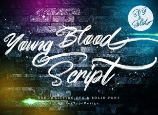 Young Blood SVG and Solid Script