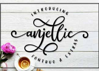 Anjellic // Script Font Duo