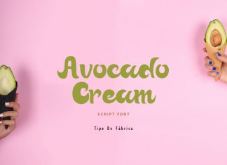 Avocado Cream || Avocado Cream Rough FontScript Font