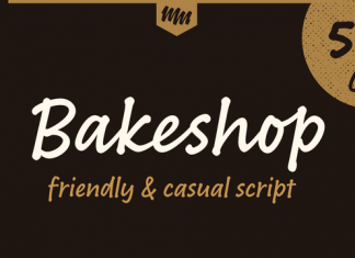Bakeshop Font Family