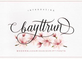Bayttrun Script Font