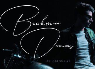 Beckman Demons - Signature Font