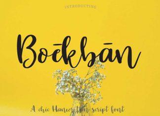 Boekban Script Font