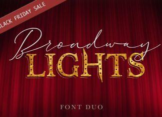 Broadway Lights   Duo Font