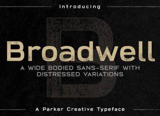 Broadwell Bold Distressed Font