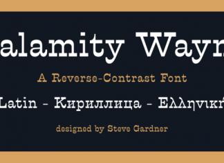Calamity Wayne Font Family