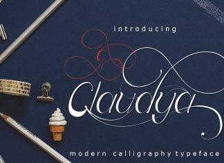 Claudya Script Font